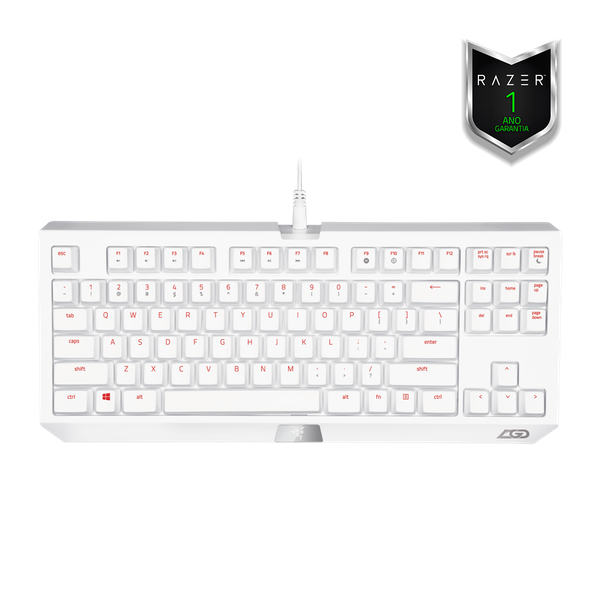 Teclado Razer Blackwidow Tournament LGD Gaming White Special Edition