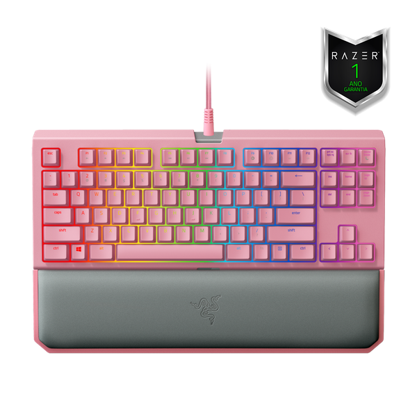 Teclado Razer Blackwidow Tournament Chroma v2 Quartz Pink - Open box