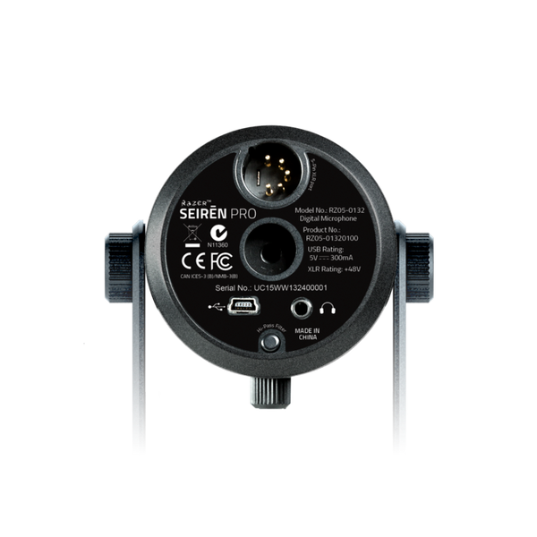 Microfone Razer Seiren Pro Xlr E Usb Microfone Digital